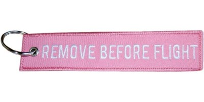 Pink Remove Before Flight Keyring
