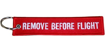 Red Remove Before Flight Keyring